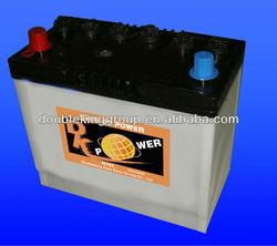 Good start dry charged car battery 12V75AH