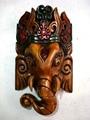 Madeira ganesh wall decor máscara nepal