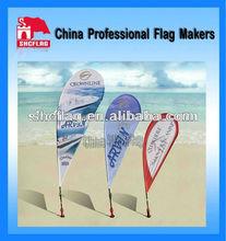 Custom advertising teardrop feather flag