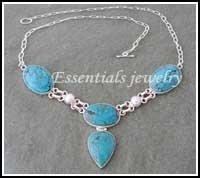 Gemstone Turquoise Necklace Jewellery