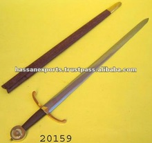 Medieval War Sword with Scabbard