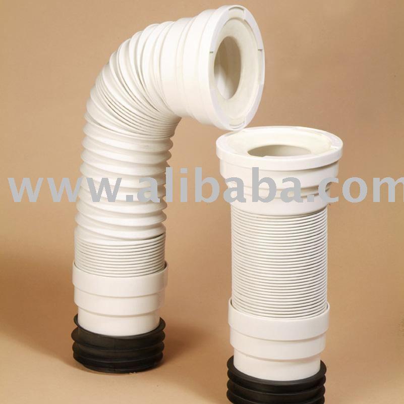 Flexible toilet waste connector
