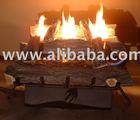 Fireplace gas system