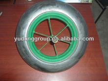 wheel barrow solid rubber wheel /tires 14''x4''