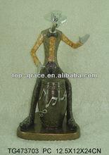 polyresin music figurine,black musician