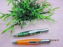 metal and plastic short ballpoint pen