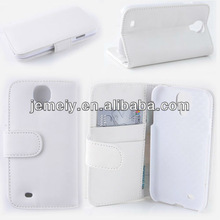 High quality flip leather case for Samsung Galaxy s4 i9500 with stand