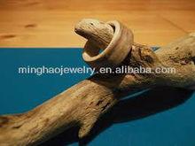 OEM logo Fashion Natural Wood Ring