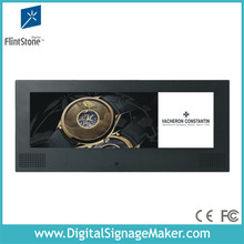 """Advertising marketing 15"""" 5:2 split screen lcd advertising player/monitor/display/screen/DVD player with metal case"""