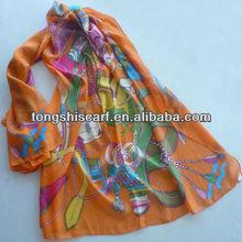 SD336-088 fashion silk hijab head scarf
