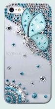 luxury deluxe 3D butterfly diamond bling glitter back cover case for apple iphone 5 5G