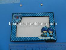 custom 3D solft PVC logo advertisement photo frames activity for promotion