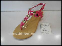 2013 latest designs fashion flat sandal for girls ladies women