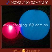 Inflatable waterproof led beach ball