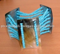 bracelet from shell black indonesia mop with bead