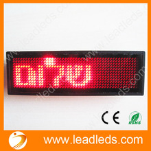 Waiters Led Name Badge with scrolling message