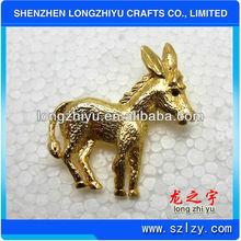 Die Casting Metal Gold Pewter Badge/Animal 3D Pewter Pins Badge