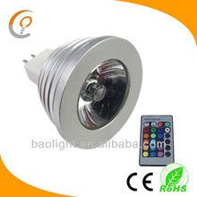 Energy Saving MR16 3W 4W RGB LED Spot Lamp Light Bulb 16 Colors+24keys IR DC 12V