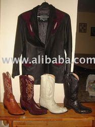 CHAMARRA DE PIEL Y BOTAS EXOTICAS Jacket and boots