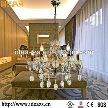 chandelier pear crystal pineapple decorations hotel lobby lamp