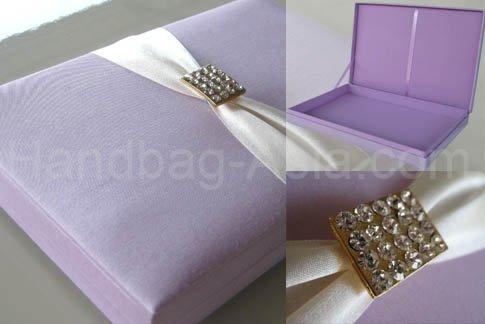 Silk invitation boxes silk favor boxes thai silk box silk photo frames