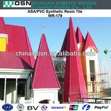 Waterproof plastic roof sheet / shingles roofing material