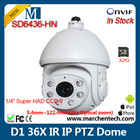 hot seller low price dahua D1 SD6436-HN 36X Network IR Dome PTZ IP Camera for whole security survillance