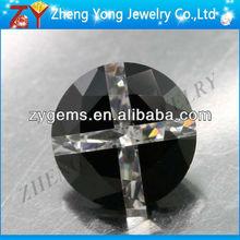 promoting round brilliant cut loose black and white diamond