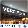 Electronic storefront acrylic led light stand acrylic emboss letters custom acrylic 3d alphabet letter