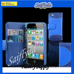 Hot Selling Wallet Case for iPhone 5 with card slots Factory price