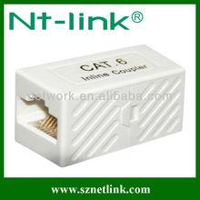 UTP Cat.6 RJ45 White Color Inline Coupler