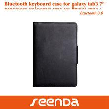 SEENDA newest Bluetooth Keyboard Tablet Stand Leather Case for Samsung Galaxy Tab 3 7 Inch 7.0