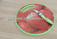 Fruit design wood cutting board plastic