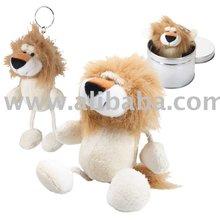 Mini Plush String Legs Lion Key Chain