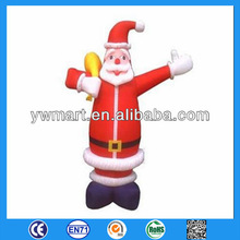 Inflatable christmas decoration, inflatable santa claus with candy cane for christmas decoration