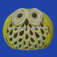 owl statues garden lantern ceramic