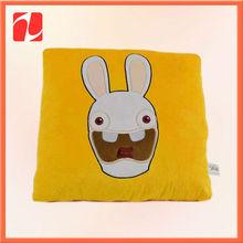 """10"""" Square Plush Rabbit Lovey CHILD Pillow plush stuffed pillow"""