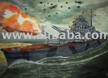 Sink the Bismarck painting
