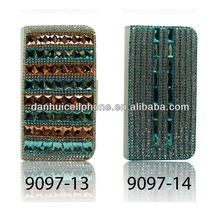 flip wristlet rhinestone crystal diamond hard leather Case Skin cover for Samsung S4 S3 iphone 5