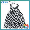 Baby Girl Summer Dress Latest Design Baby Frock Halter Girls Chevron Cotton Dress