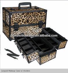 Portable Leopard Makeup Case w/ Dividers