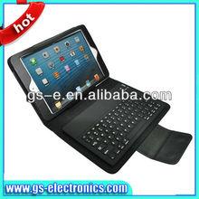 New design bluetooth keyboard PU cover case for ipad mini