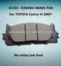 D1222 car accessory ceramic break pad for TOYOTA,CAMRY