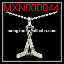 2013 yiwu fashion jewelry alloy CABLE NECKLACE - HOCKEY STICKS