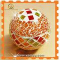 Bola de natal de vidro espelho de mosaico de bola mosaico decoração de bola