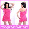 Wholesale Pink One-shoulder Lace Adult Babydoll Dress