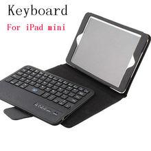 kickstand leather bluetooth keyboard portfolio case for ipad mini