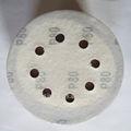 Abrasivo flexível de apoio velcro lixa tapetesdecarro/disco com seis furos para a superfície da pintura