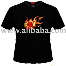 The BASKETBALL ON FIRE Musical EL TEE shirt
