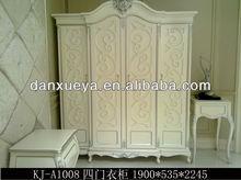 Bedroom furniture french style design wooden 4 doors wardrobe KJ-01#